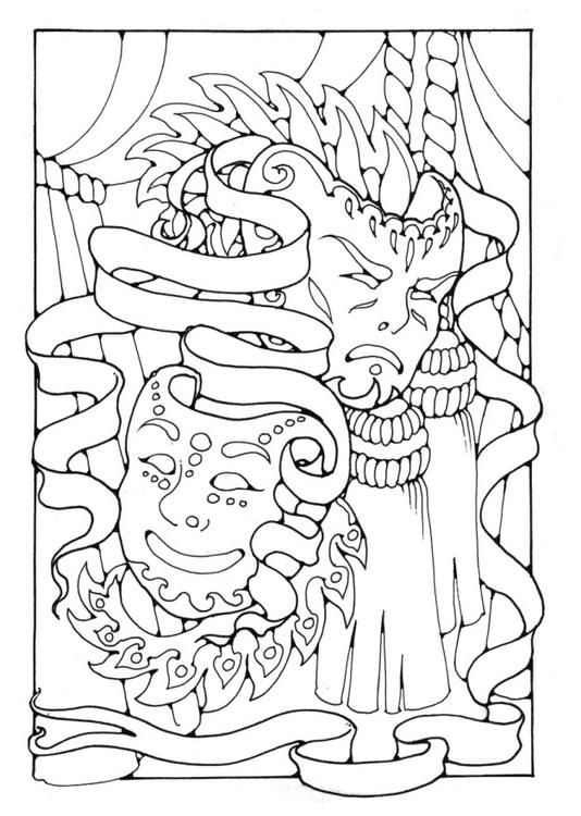 Malvorlage Masken Ausmalbild 16377