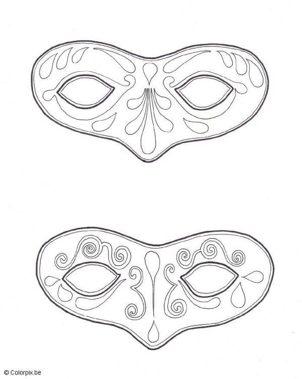 Malvorlage Masken Ausmalbild 5667