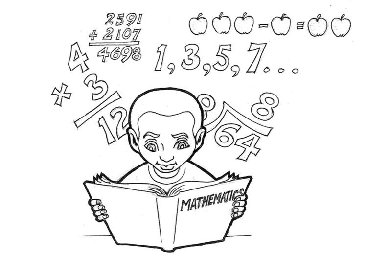 Malvorlage Mathematik Lernen Ausmalbild 16613
