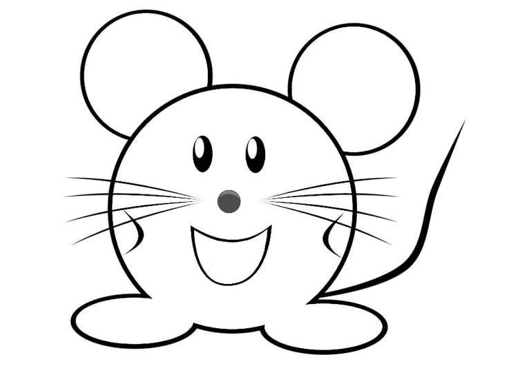 Malvorlage Maus | Ausmalbild 29312.