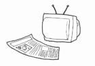 Malvorlage  Medien