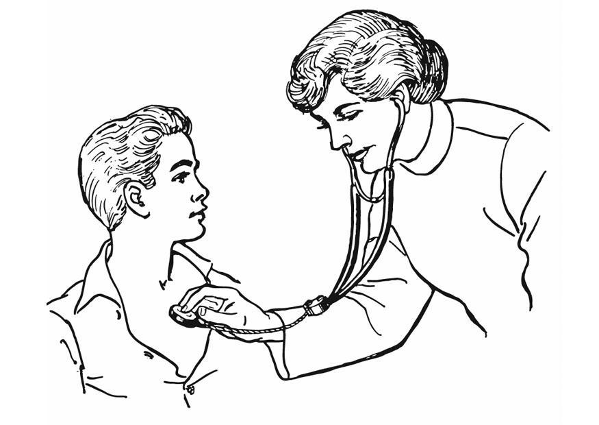 malvorlage medizinische untersuchung  kostenlose
