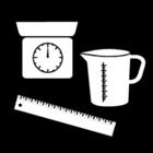 Malvorlage  messen und wiegen
