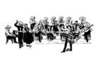 Malvorlage  mexikanisches Orchester
