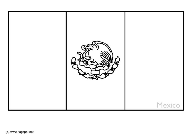 Free Mexican Flag Coloring Page