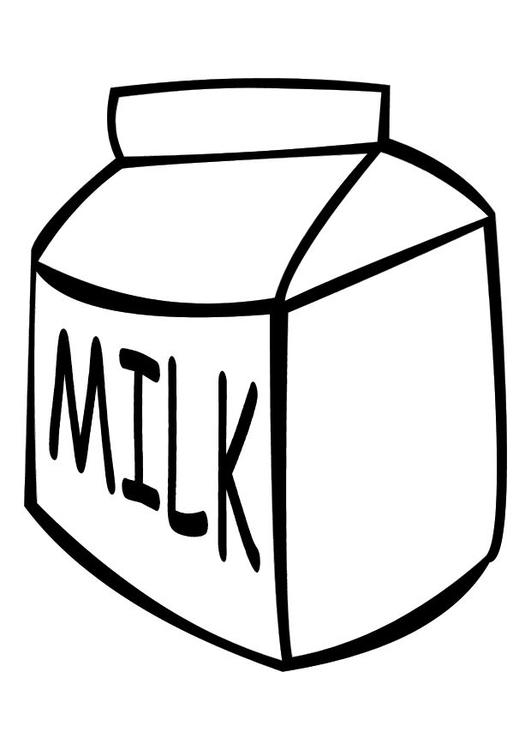 Malvorlage Milch | Ausmalbild 10246.