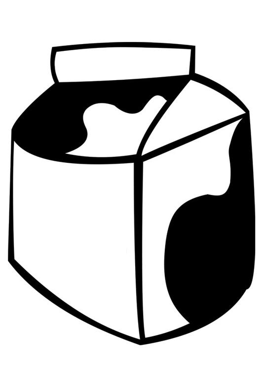 Malvorlage Milch | Ausmalbild 22368.