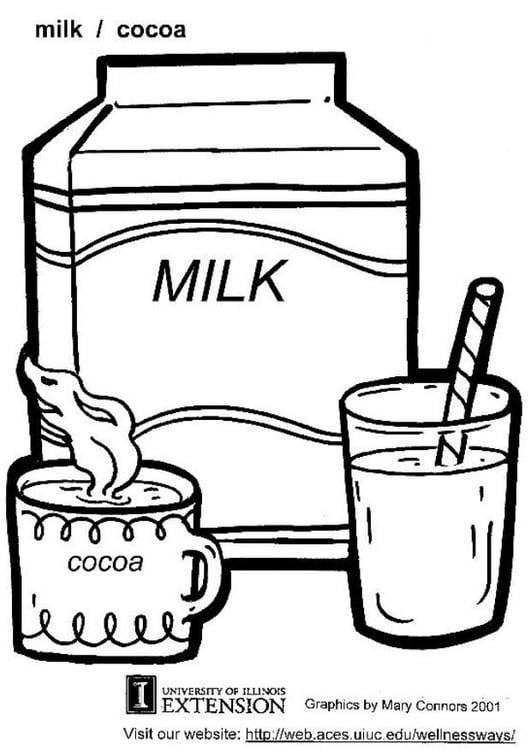 Malvorlage Milch | Ausmalbild 5865.