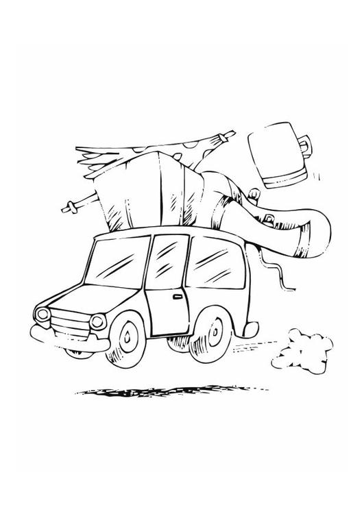 Urlaub malvorlage  Malvorlage Mit dem Auto in den Urlaub | Ausmalbild 10771.