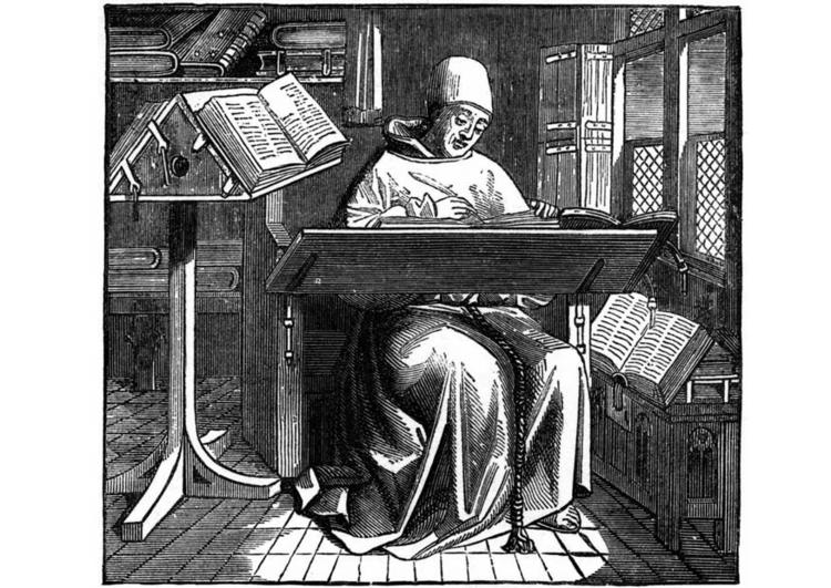 Briefe Schreiben Im Mittelalter : Malvorlage mönch bei der arbeit ausmalbild