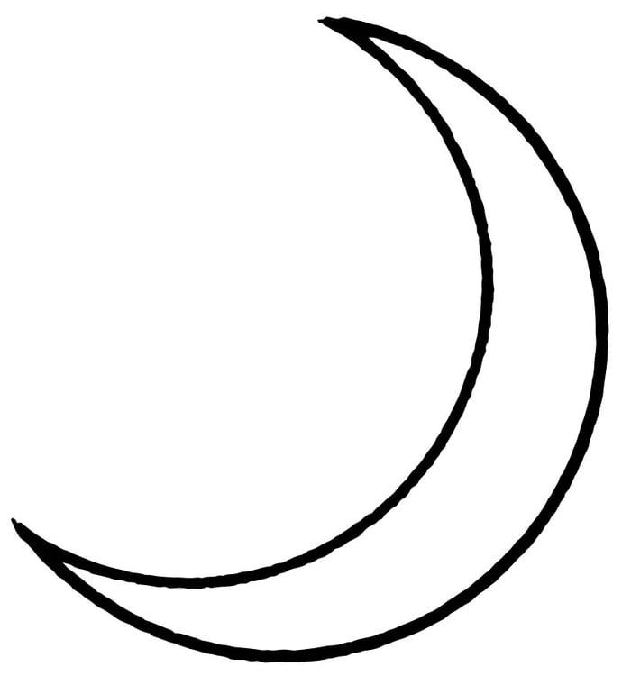 Malvorlage Mond | Ausmalbild 15709.