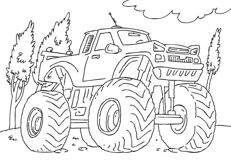 Malvorlage  Monstertruck