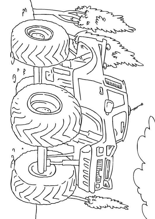 Malvorlage Monstertruck | Ausmalbild 27165.