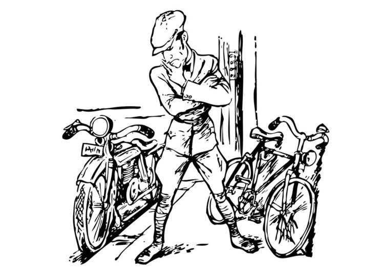malvorlage motoorrad und fahrrad  kostenlose ausmalbilder
