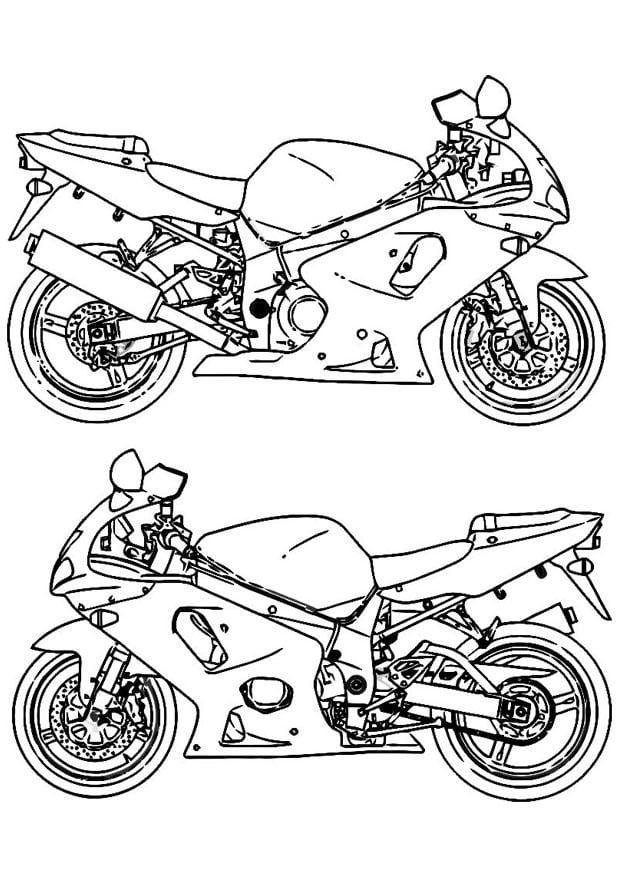 malvorlage motorrad  kostenlose ausmalbilder zum