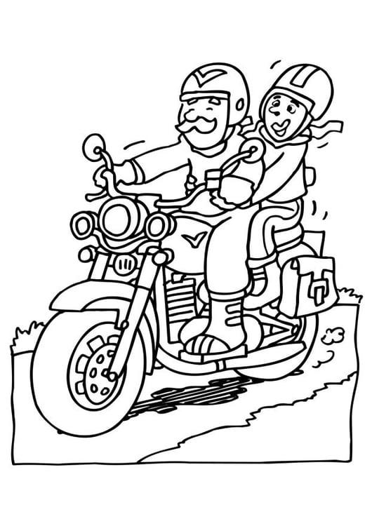 Malvorlage Motorrad Ausmalbild 6526