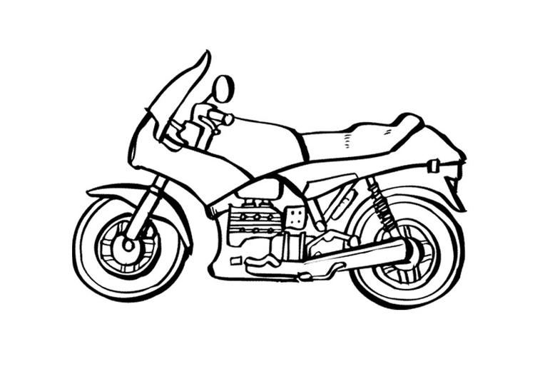 Malvorlage Motorrad   Ausmalbild 9535.