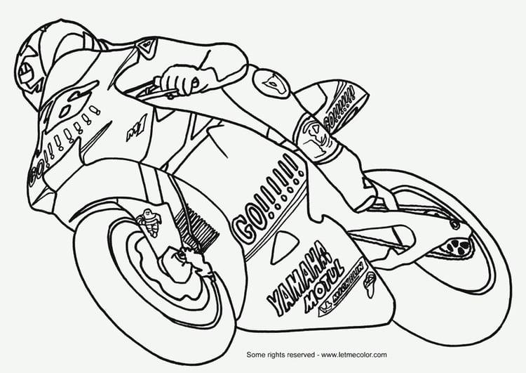 Malvorlage Motorrad Ausmalbild 9792