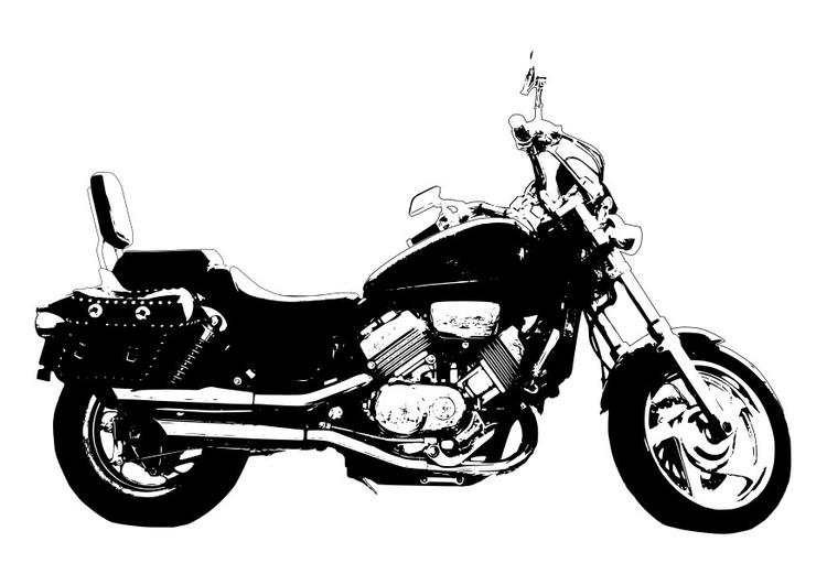 malvorlage motorrad  honda magna  kostenlose