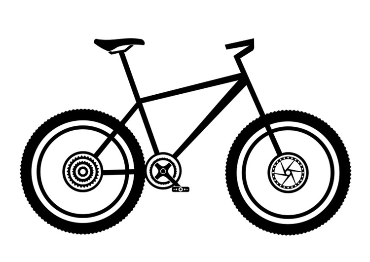 Malvorlage Mountainbike   Ausmalbild 27505.