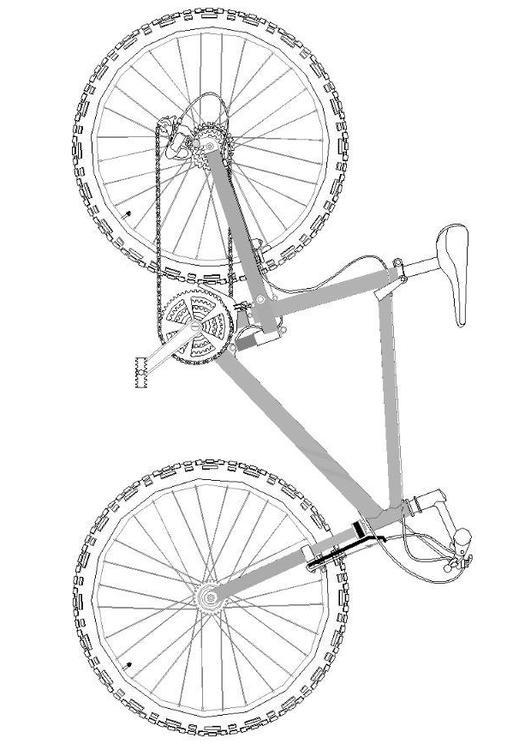 Malvorlage Mountainbike   Ausmalbild 7062.