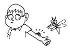 Malvorlage  Mückenstich