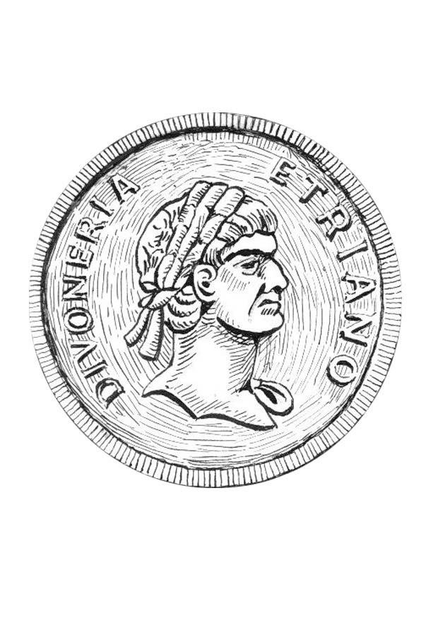 malvorlage münze  kostenlose ausmalbilder zum ausdrucken