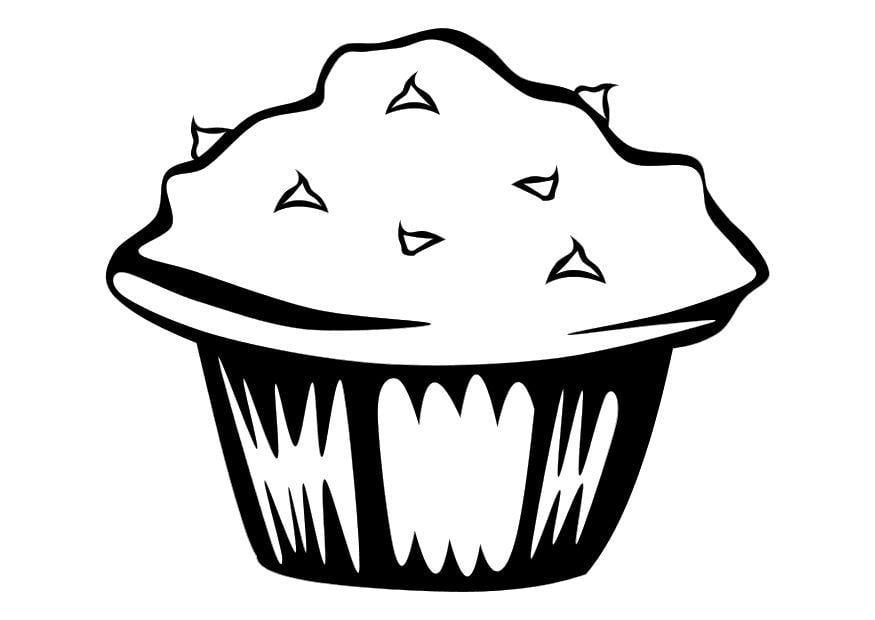 Malvorlage Muffin | Ausmalbild 10249.