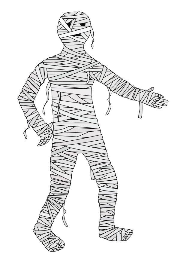 Malvorlage Mumie | Ausmalbild 22977.