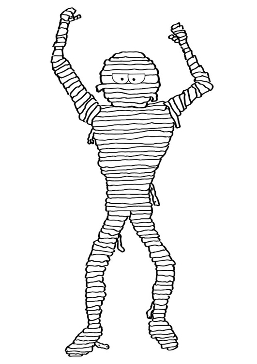 Malvorlage Mumie | Ausmalbild 19678.