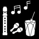 Malvorlage  Musik machen
