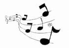 Malvorlage  Musik