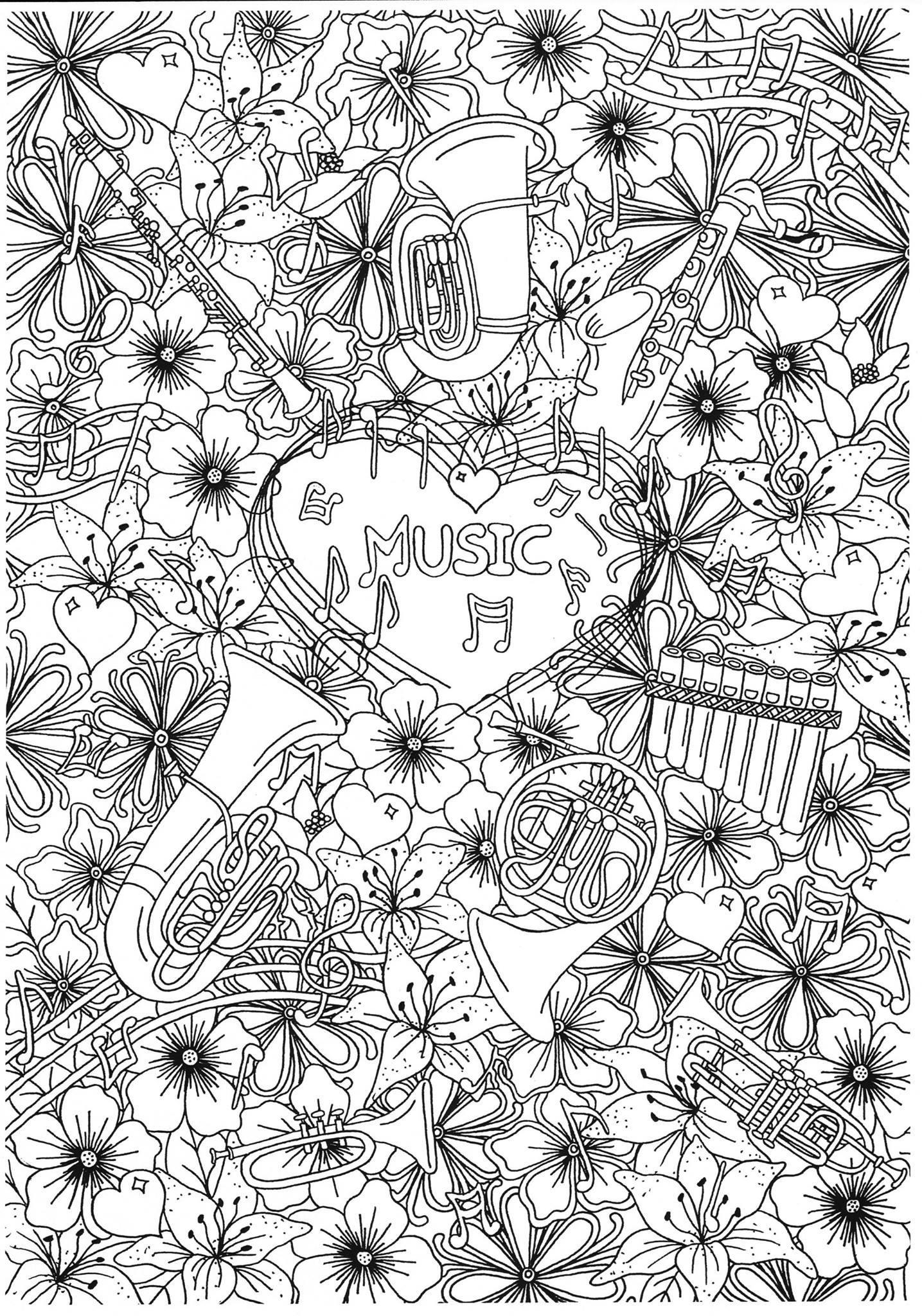 malvorlage musikblasinstrumente  kostenlose ausmalbilder