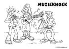 Malvorlage  Musikecke