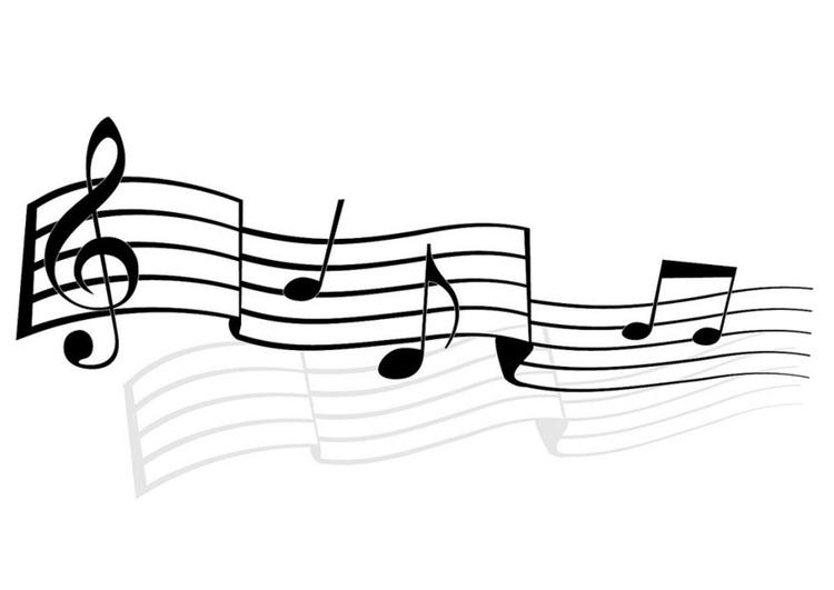 malvorlage musiknoten  kostenlose ausmalbilder zum