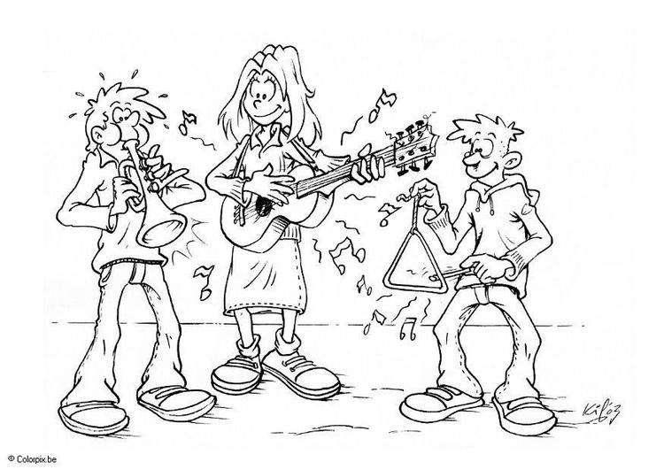 Malvorlage Musikunterricht Ausmalbild 6601