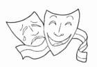 Malvorlage  musische Erziehung - Theater