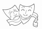 malvorlage masken kostenlose ausmalbilder zum ausdrucken