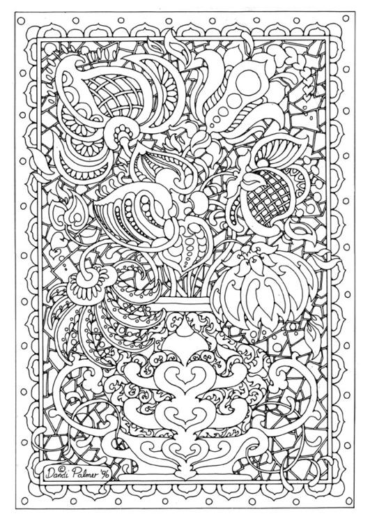 Malvorlage Muster Ausmalbild 9214