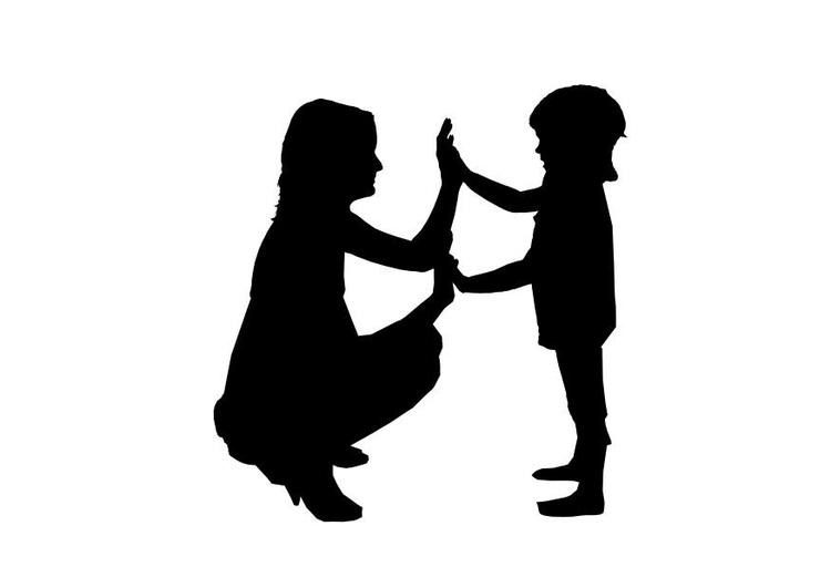 Malvorlage Mutter mit Kind   Ausmalbild 26155.