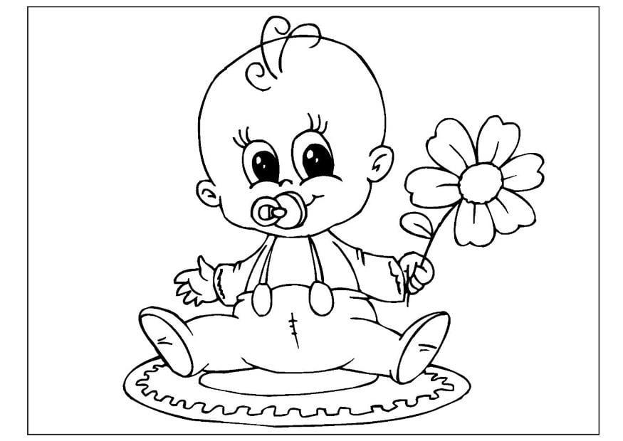 Kleurplaten Geboorte Dochter.Kleurplaat Geboorte Meisje Malvorlage Muttertag Ausmalbild 25802