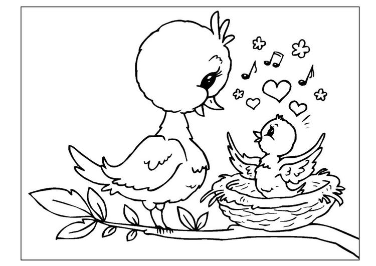 Malvorlage Muttertag   Ausmalbild 25803.