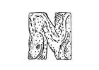 Malvorlage  n-newt
