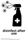 Malvorlage  nach Gebrauch desinfizieren