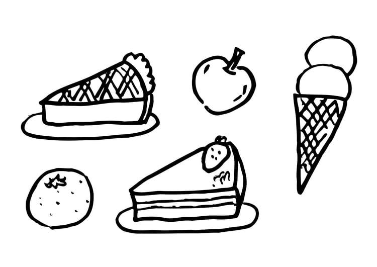 Kleine Donuts Kleurplaat Malvorlage Nachtisch Ausmalbild 12289