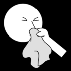 Malvorlage  Nase putzen
