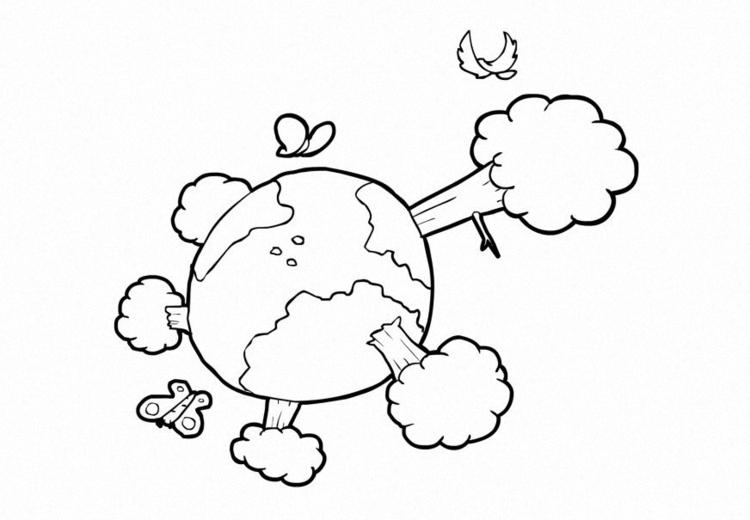 malvorlage natur  klima  die erde  kostenlose