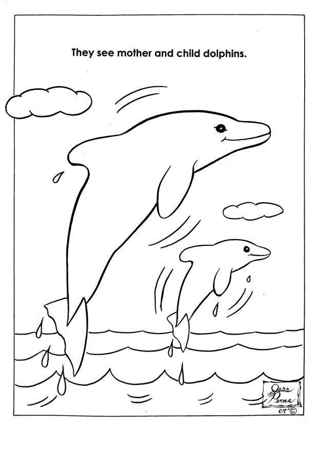 Malvorlage Naturpark Delphine