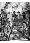 Malvorlage  Nelson in Trafalgar