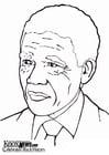 Malvorlage  Nelson Mandela